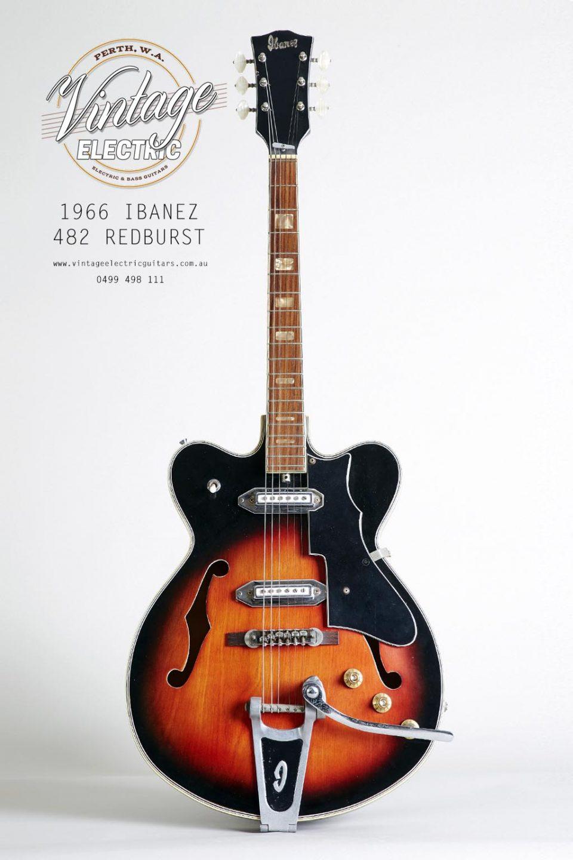 1966 Ibanez 482 Redburst Guitar