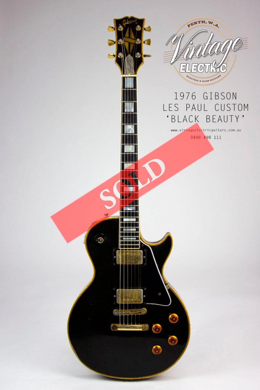 1976 Gibson Les Paul Custom Black Beauty USA
