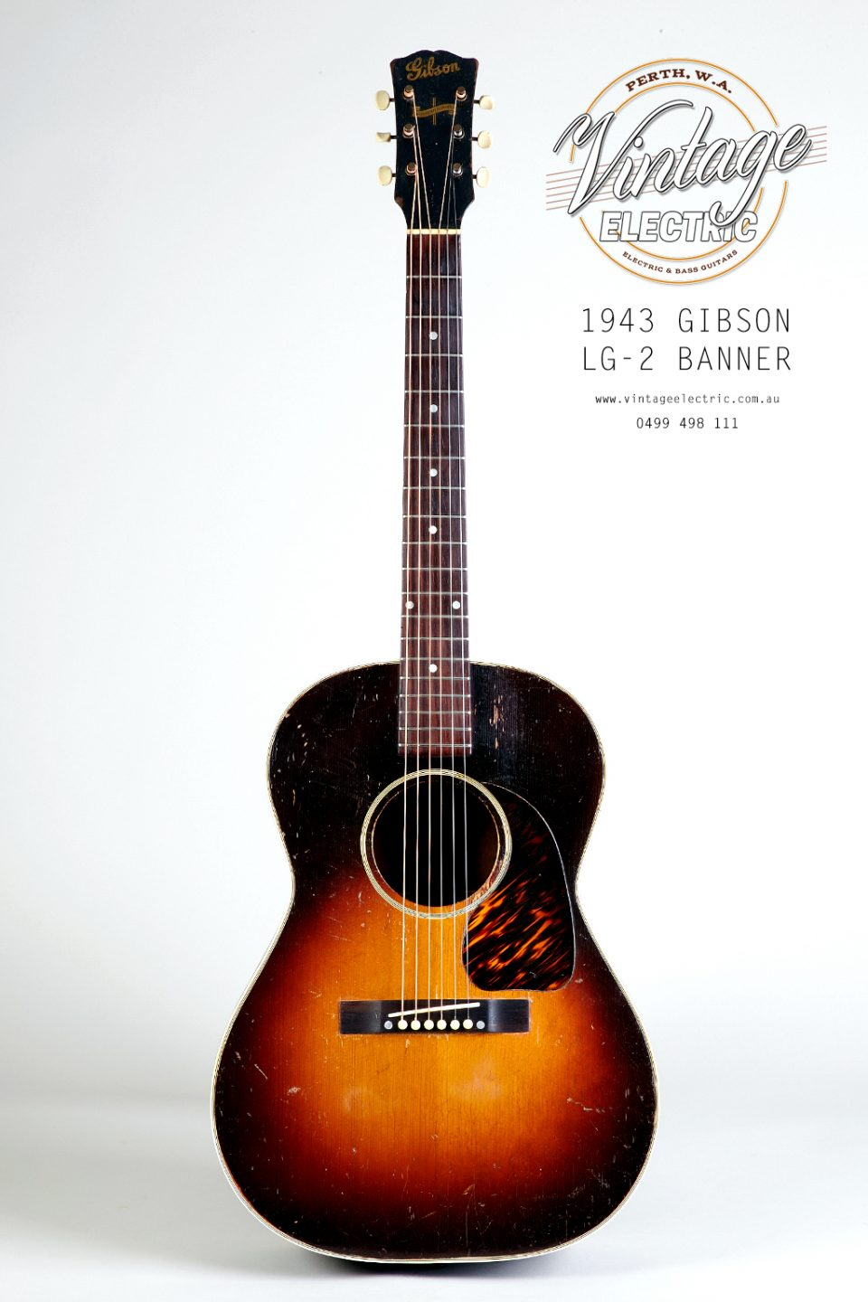 1943 Gibson LG-2 Banner Headstock Acoustic Guitar
