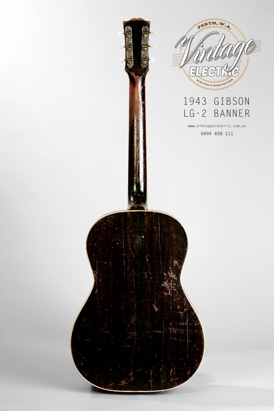 1943 Gibson LG-2 USA Back of Body
