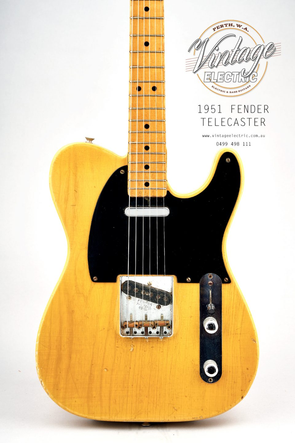 1951 Fender Telecaster Butterscotch Body
