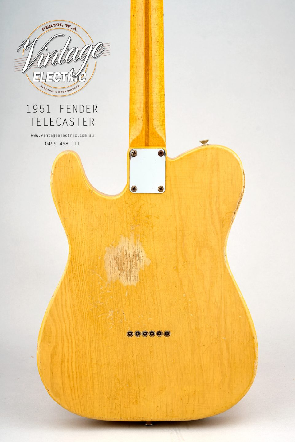 1951 Fender Telecaster USA Back of Body
