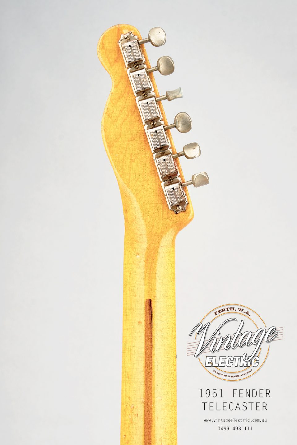 1951 Fender Telecaster USA Back of Headstock