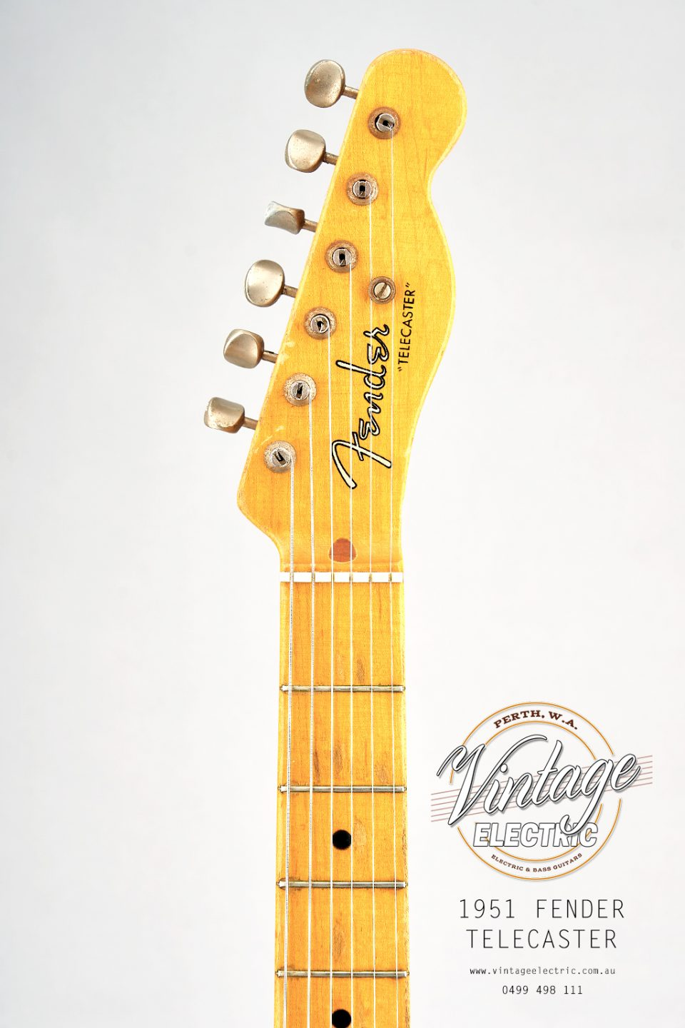 1951 Fender Telecaster USA Headstock