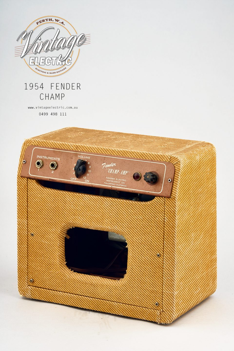 1954 Fender Champ USA Back