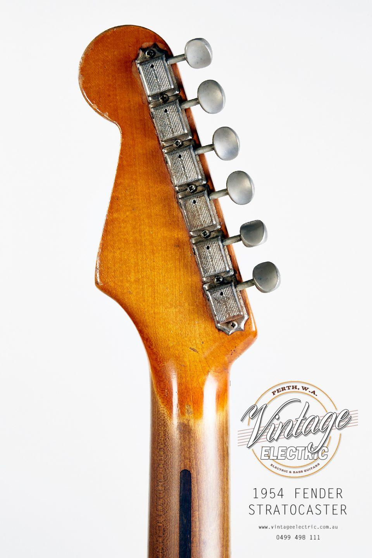 1954 Fender Stratocaster Back of Headstock