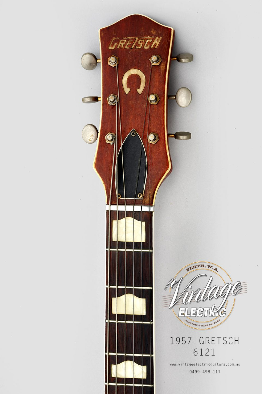 1957 Gretsch 6121 Headstock USA