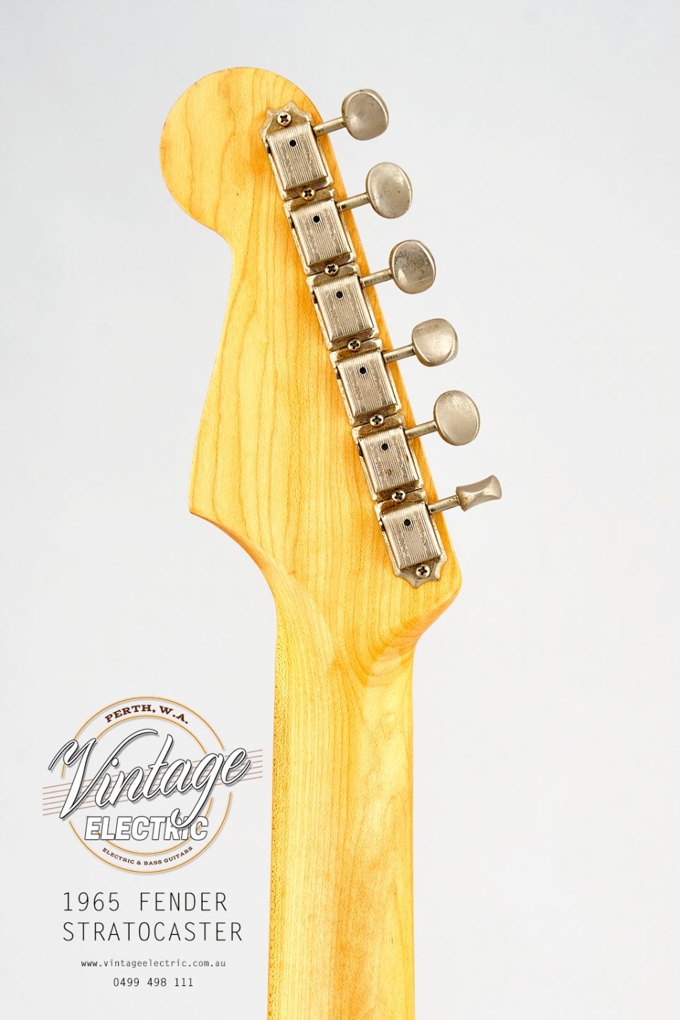 1965 Fender Stratocaster USA Back of Headstock