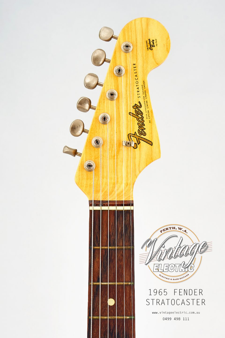 1965 Fender Stratocaster USA Headstock