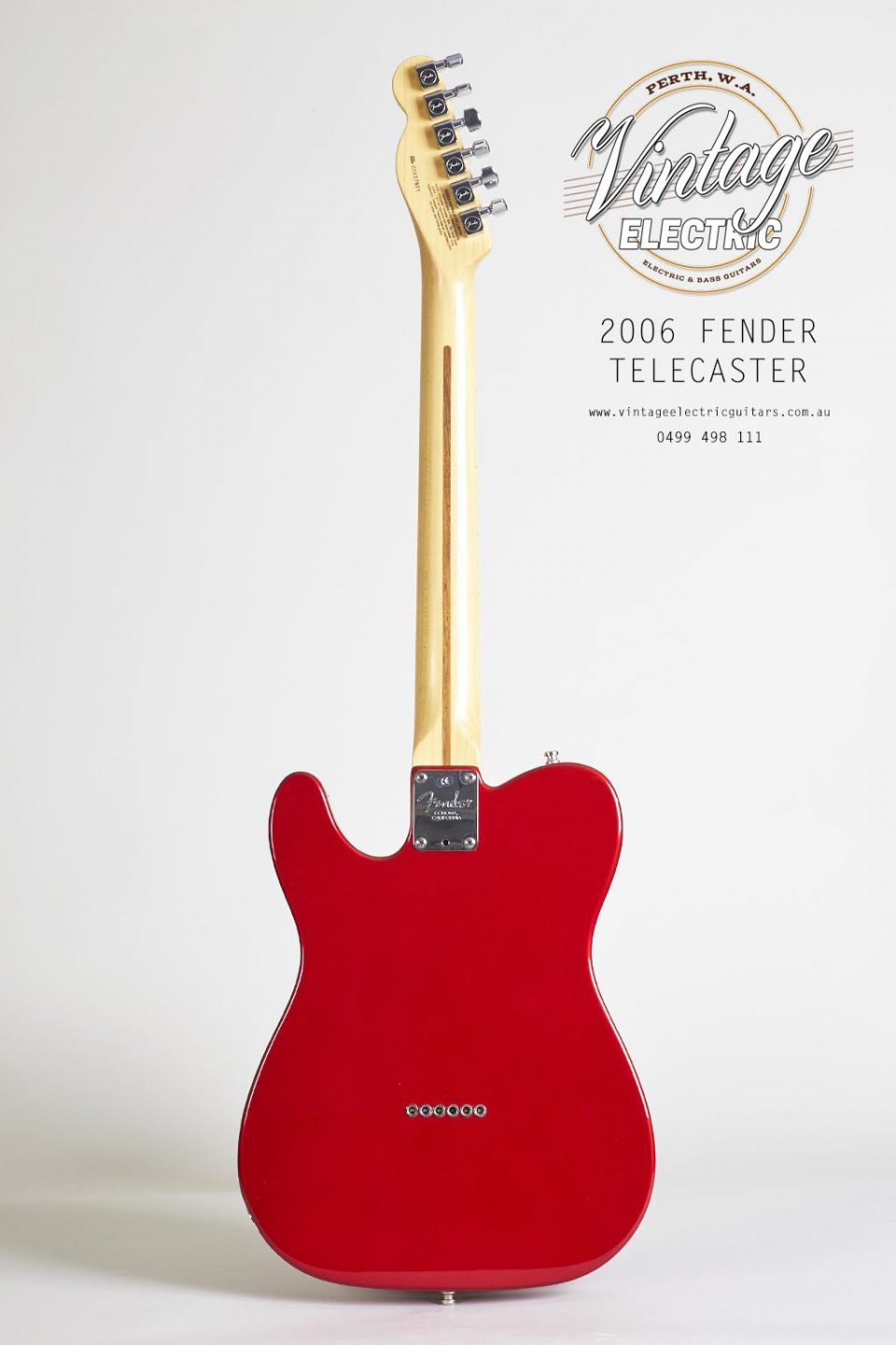 2006 Fender Telecaster Standard USA Candy Apple Red