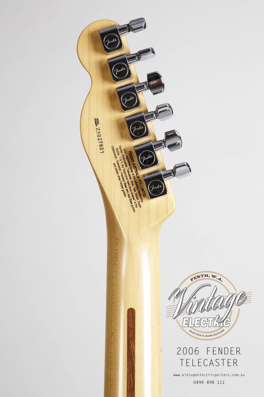 2006 Fender Telecaster Standard Back of Headstock