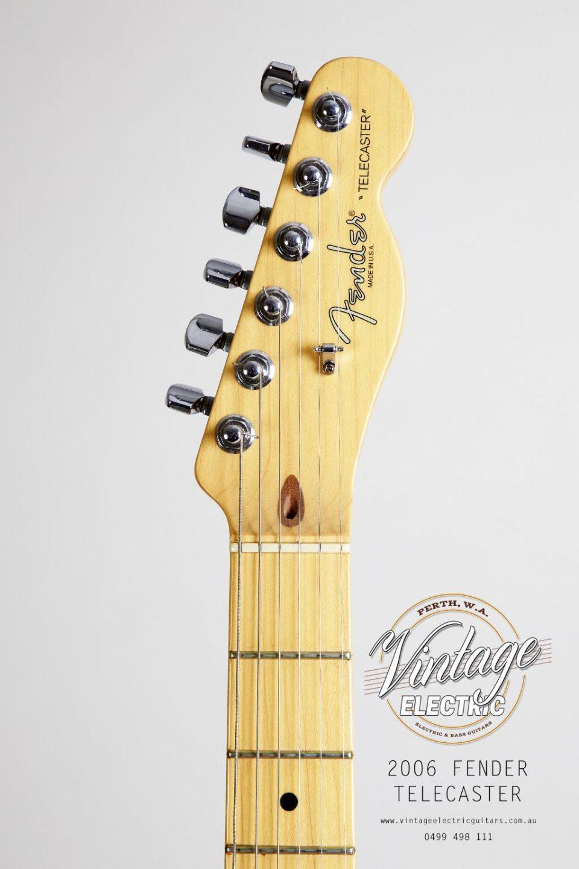 2006 Fender Telecaster Standard Headstock