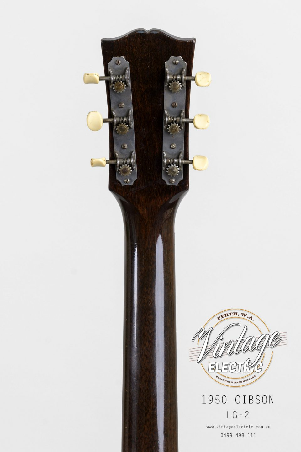 1950 Gibson LG-2 USA Back of Headstock
