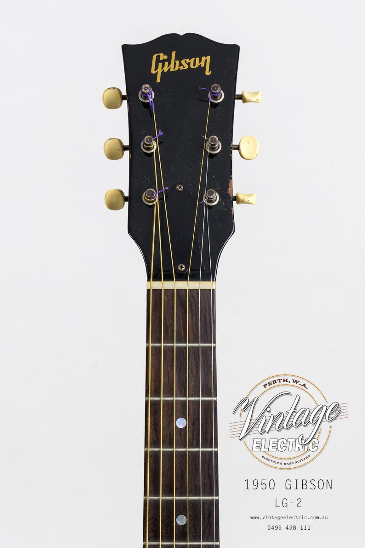 1950 Gibson LG-2 USA Headstock