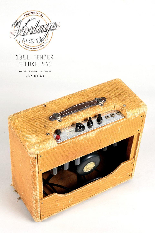 1951 Fender Deluxe Back Top