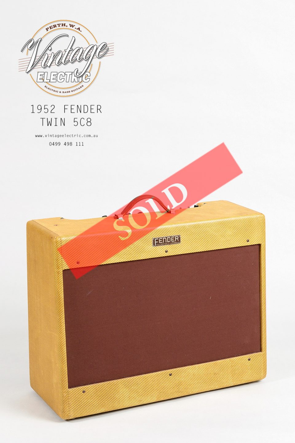 1952 Fender Twin Large SOLD