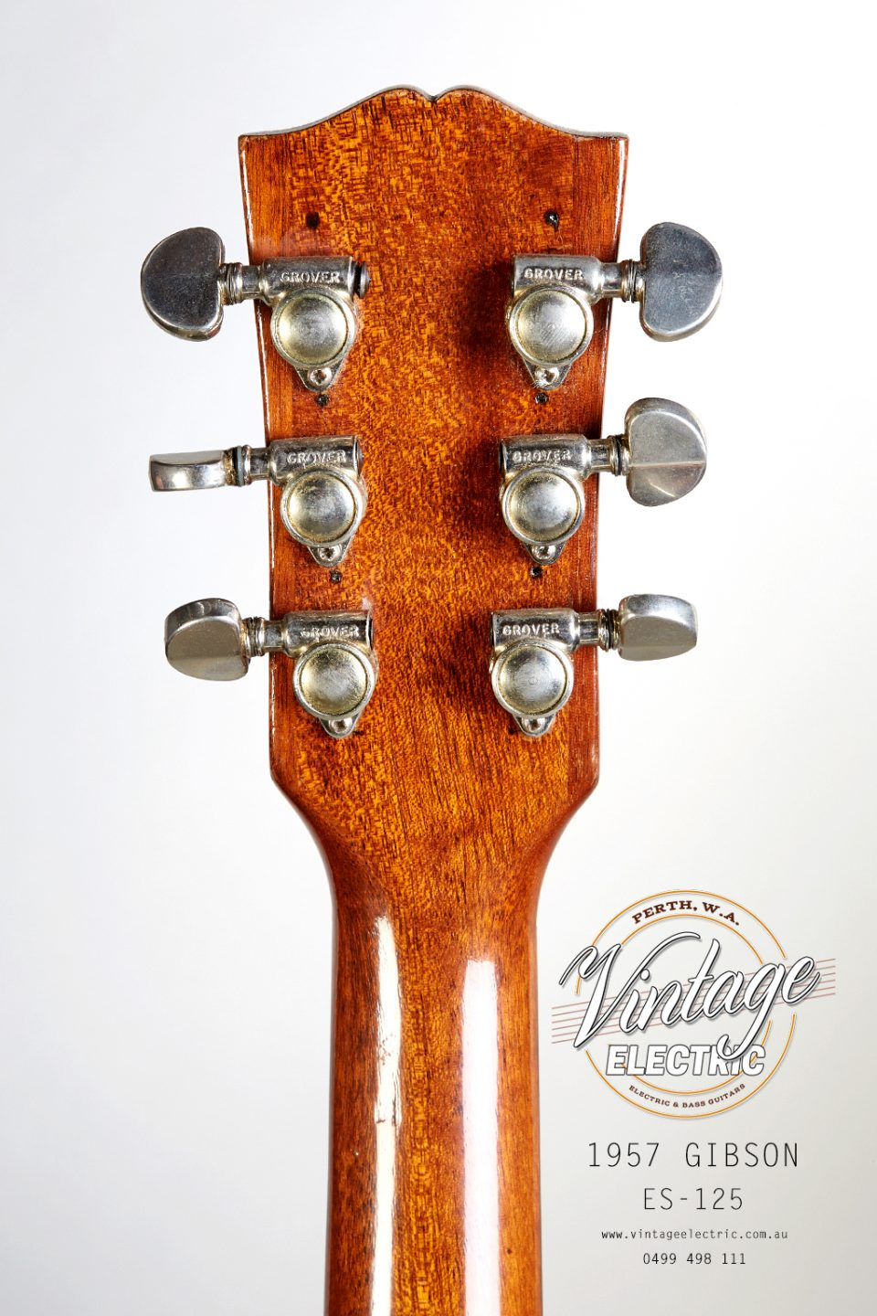 1957 Gibson ES-125 USA Back of Headstock