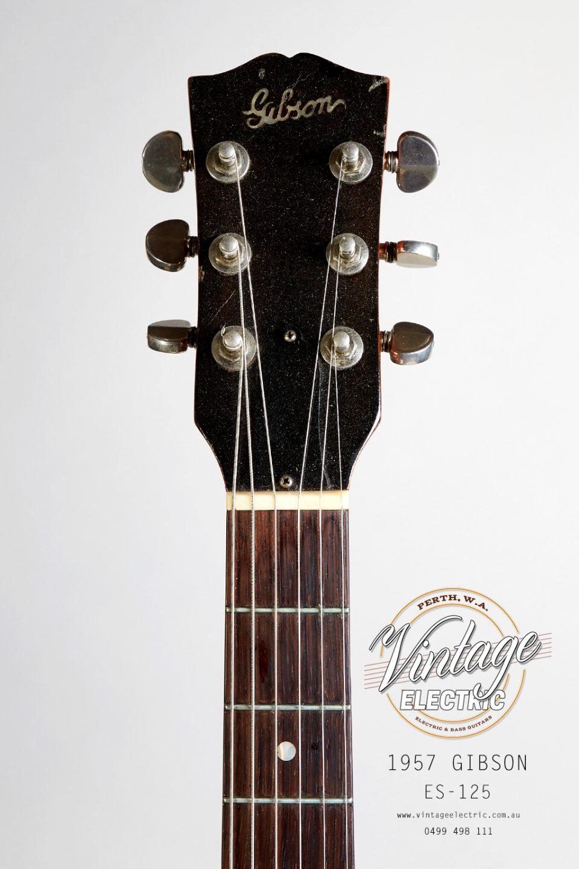 1957 Gibson ES-125 USA Headstock