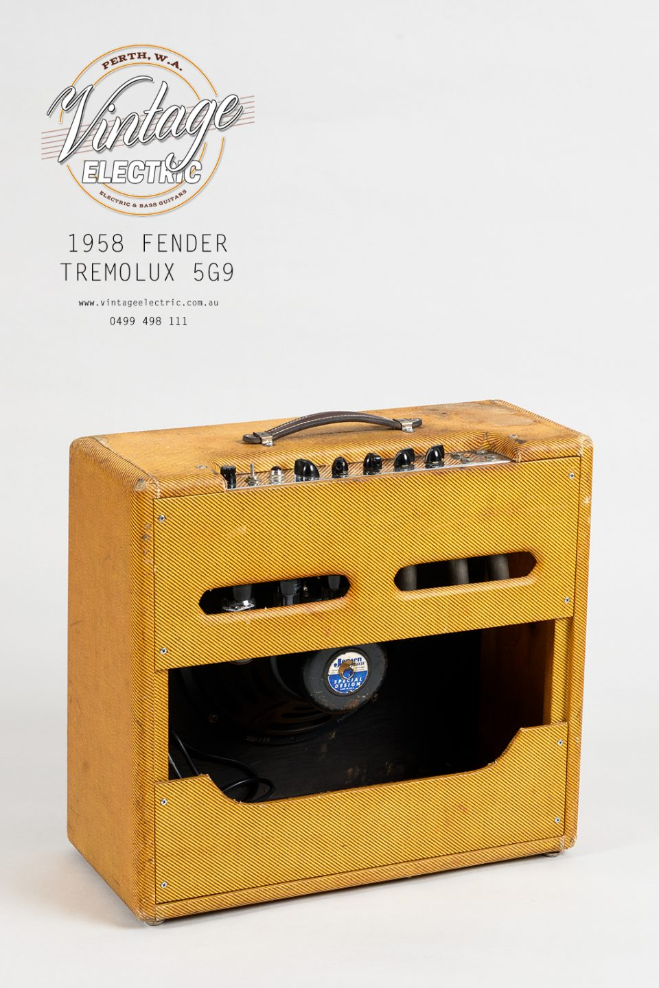 1958 Fender Tremolux 5G9 Back