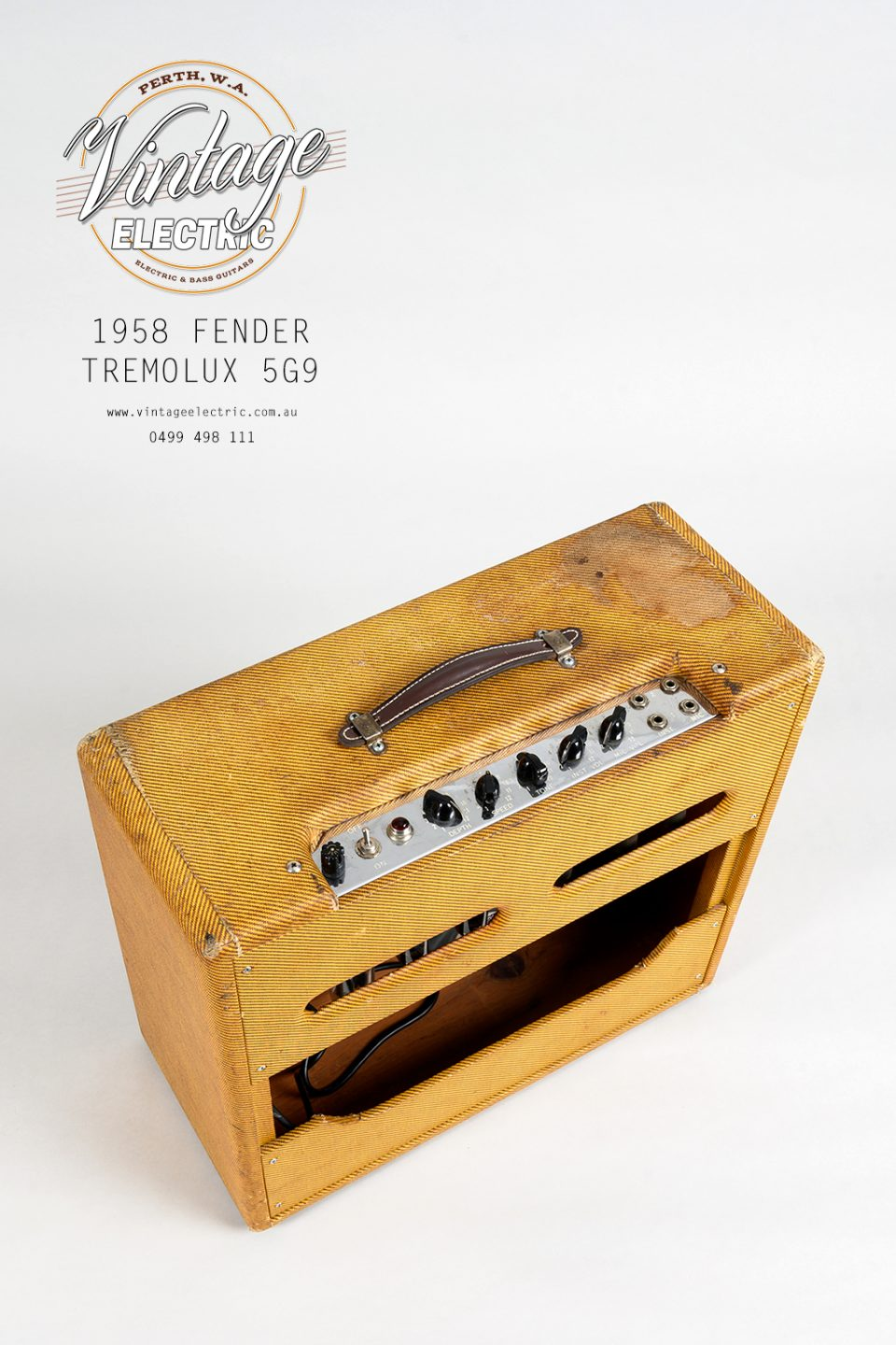 1958 Fender Tremolux 5G9 Back Top