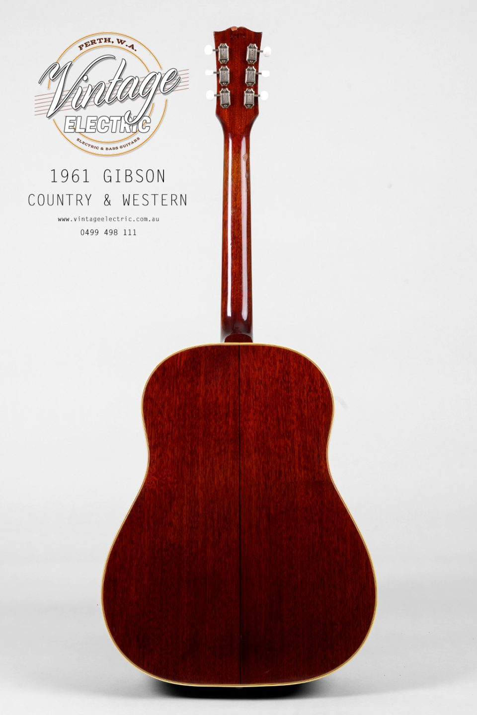 1961 Gibson Country Western Back of Guitar