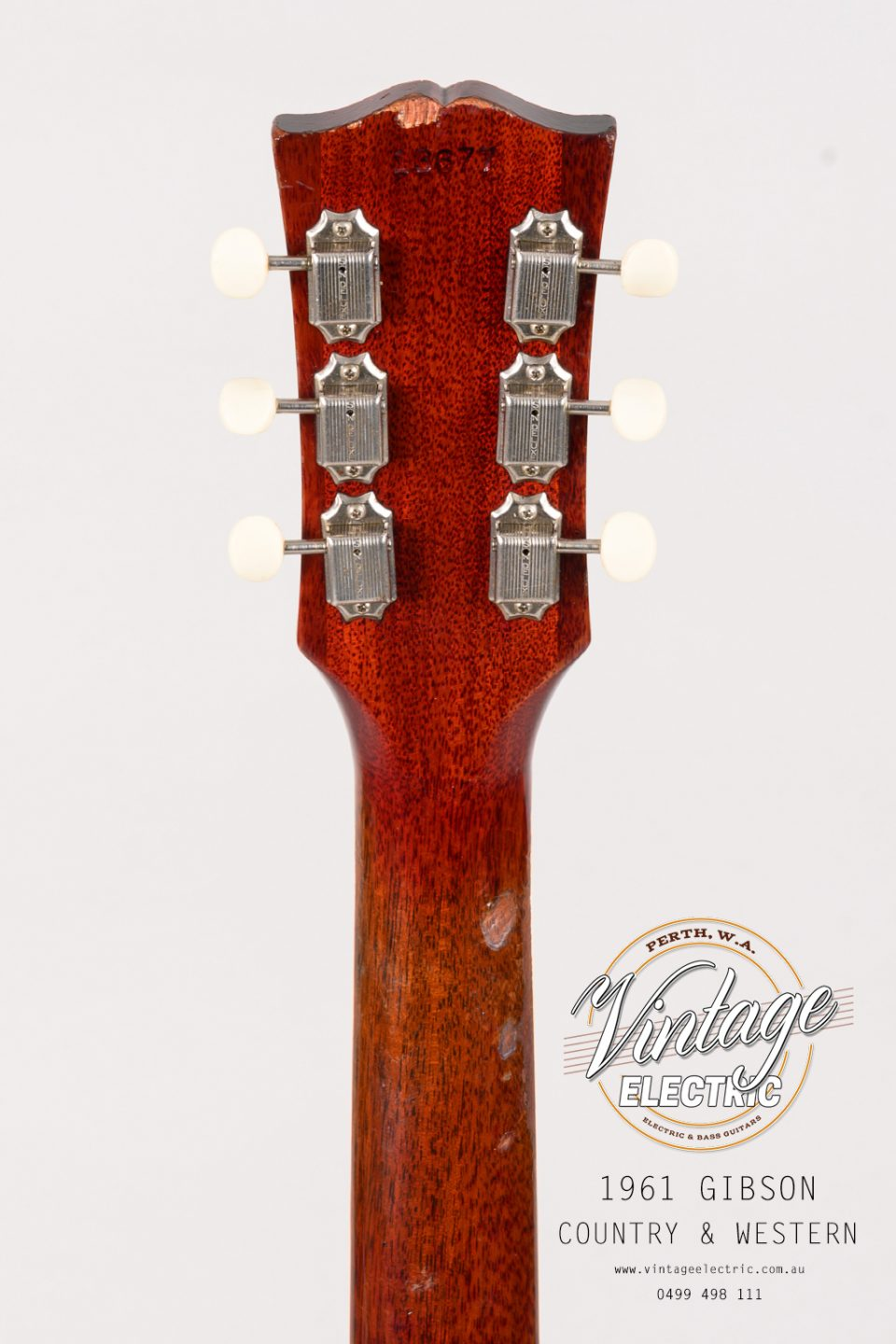 1961 Gibson Country Western Back of Headstock