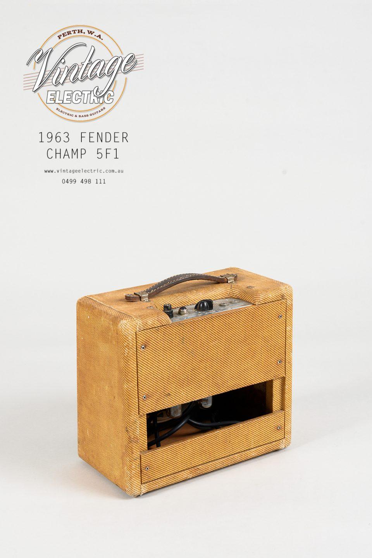 1963 Fender Champ 5F1 Back
