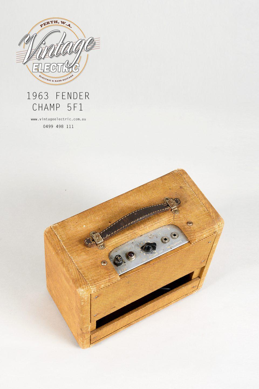 1963 Fender Champ 5F1 Back Top