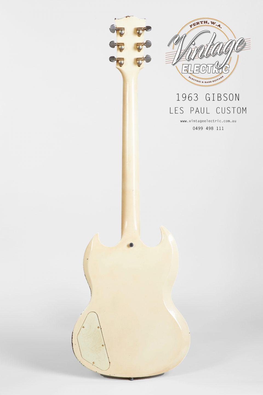 1963 Gibson Les Paul Custom 2020 Back of Guitar