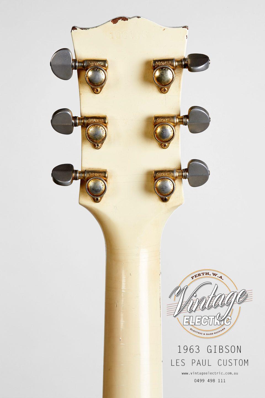 1963 Gibson Les Paul Custom 2020 Back of Headstock