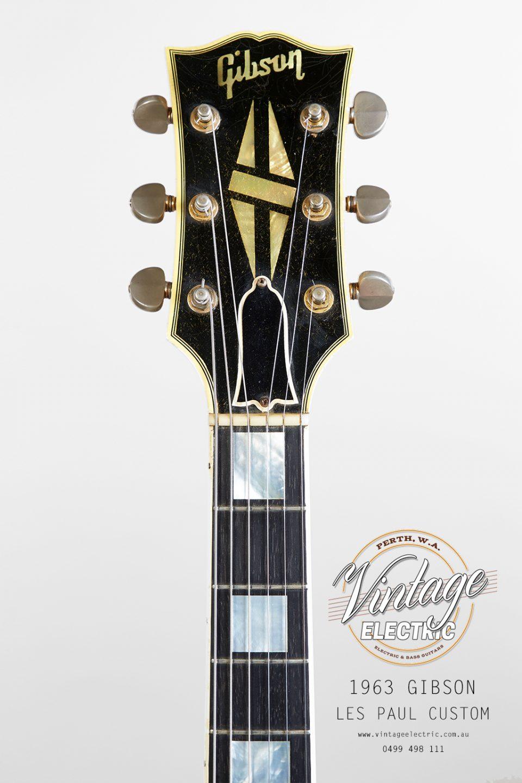 1963 Gibson Les Paul Custom 2020 Headstoc