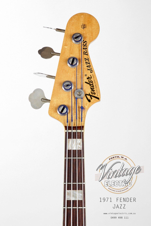 1971 Fender Jazz USA Headstock
