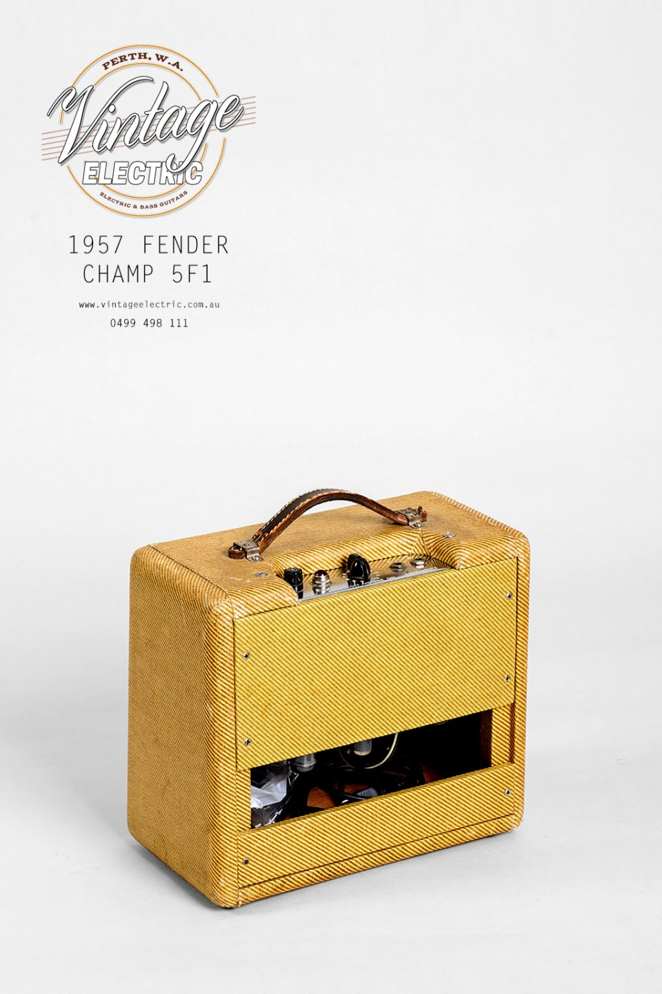 1957 Fender Champ 5F1 Back