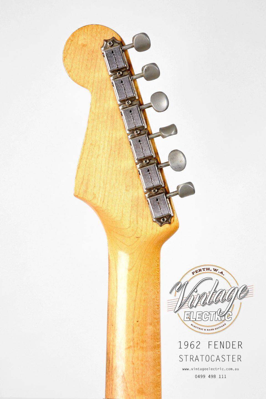 1962 Fender Stratocaster Back of Headstock