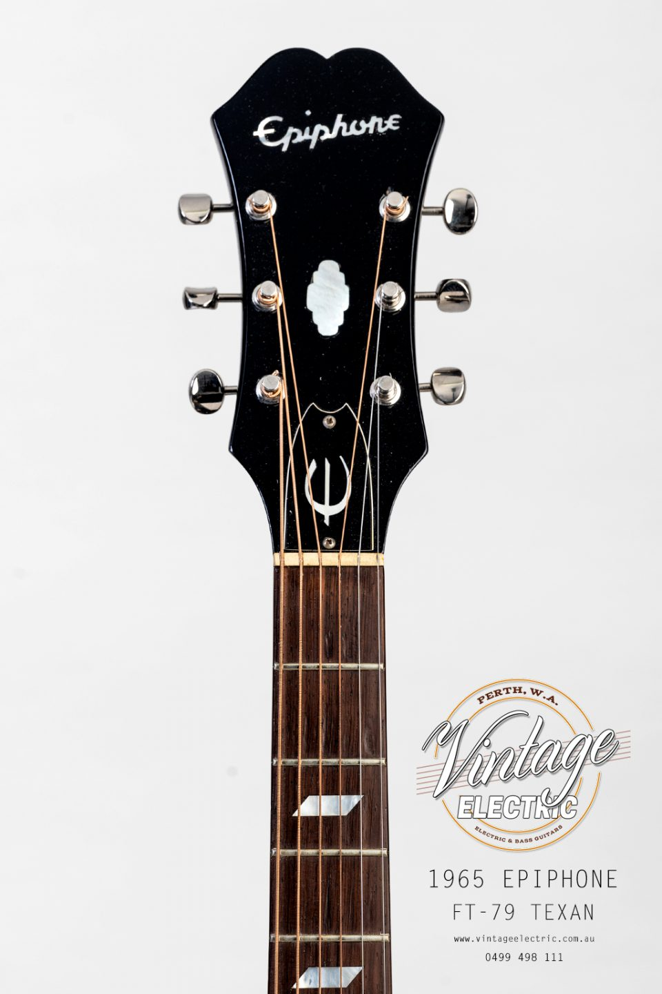 1965 Epiphone Texan FT79 USA Headstock