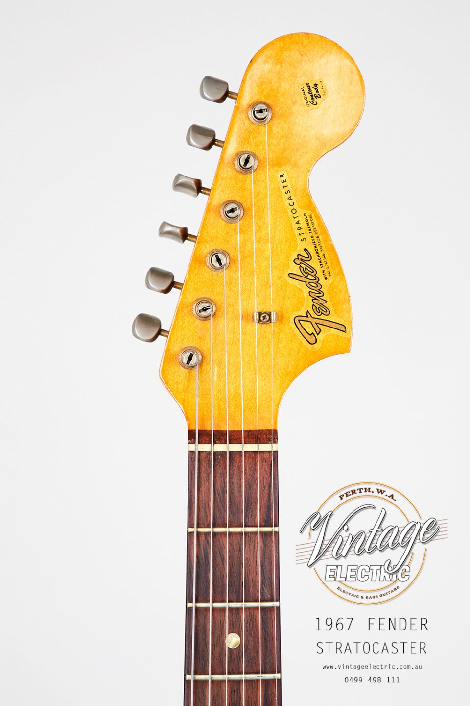 1967 Fender Stratocaster CAR Headstock
