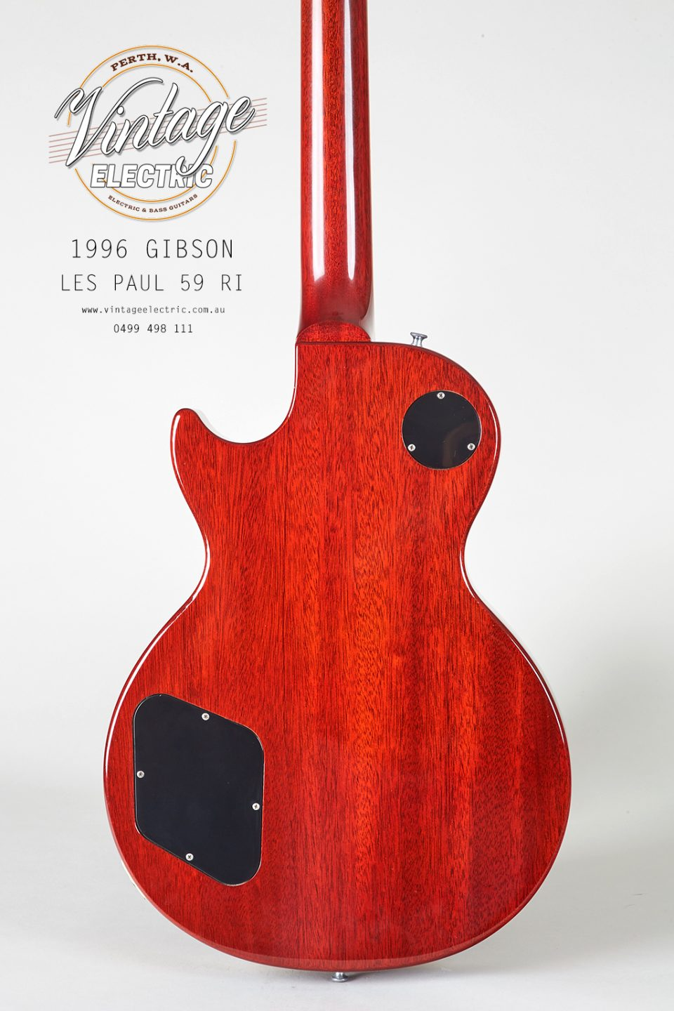 1996 Gibson Les Paul 59RI Back of Body