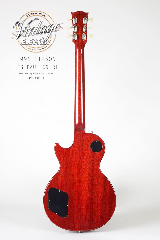 1996 Gibson Les Paul 59RI Back of Guitar