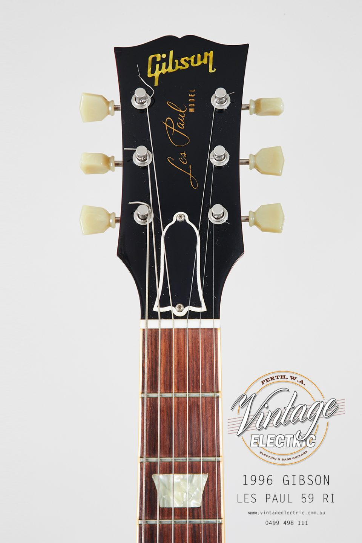 1996 Gibson Les Paul 59RI Headstock