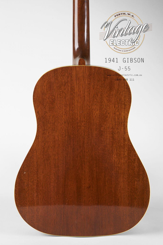 1941 Gibson J-55 Back of Body
