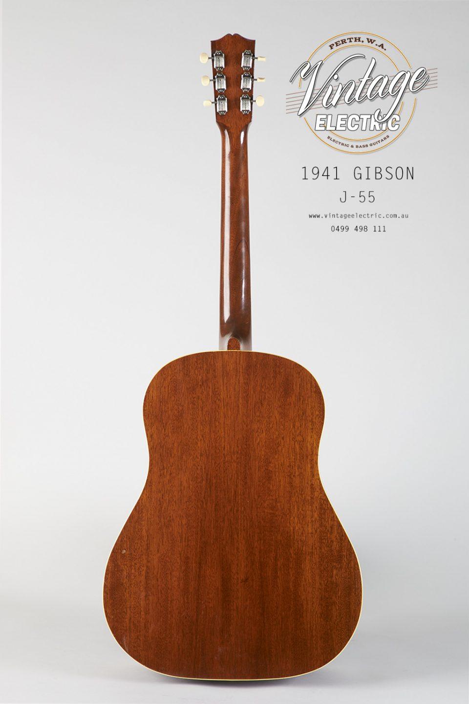 1941 Gibson J-55 Back of Guitar
