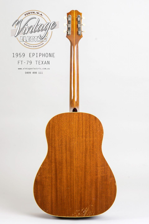 1959 Epiphone Texan FT79 Back of Guitar