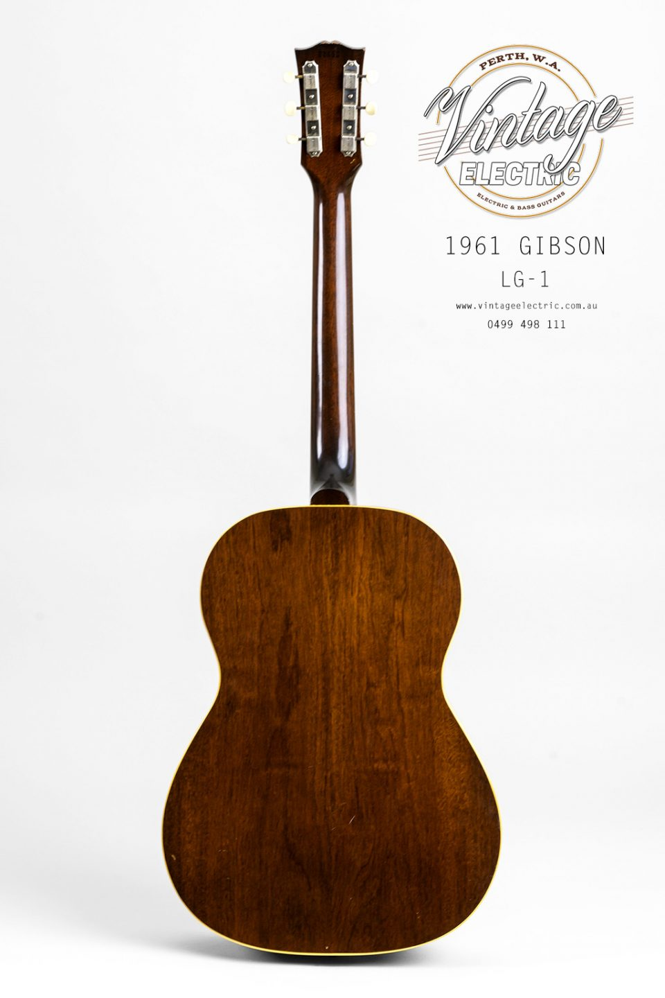 1961 Gibson LG1 Back of Guitar