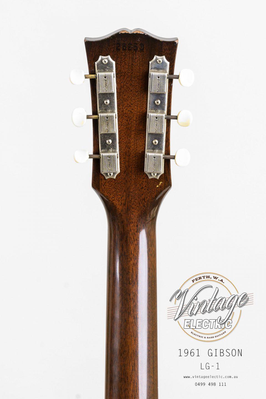 1961 Gibson LG1 Back of Headstock