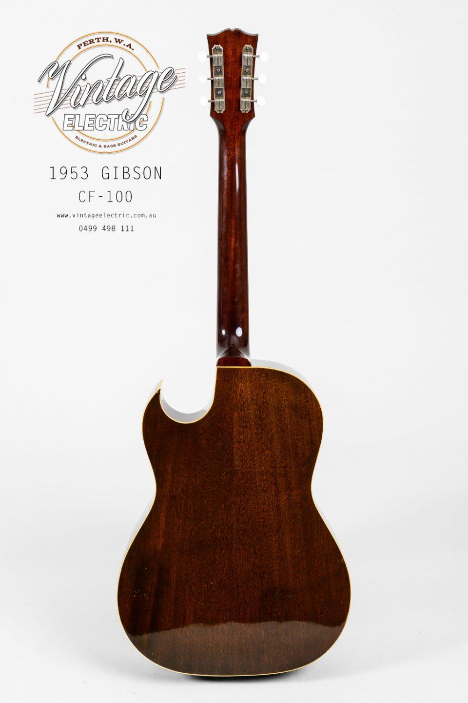 1953 Gibson CF-100 Back of Guitar