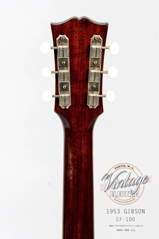 1953 Gibson CF-100 Back of Headstock