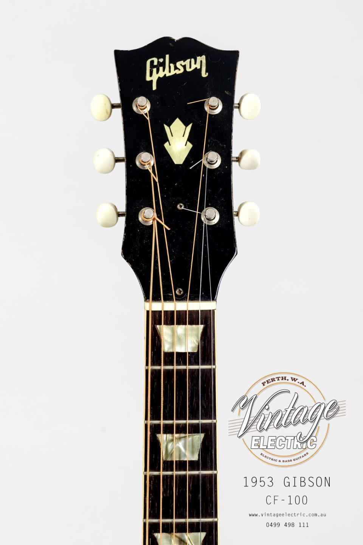 1953 Gibson CF-100 Headstock