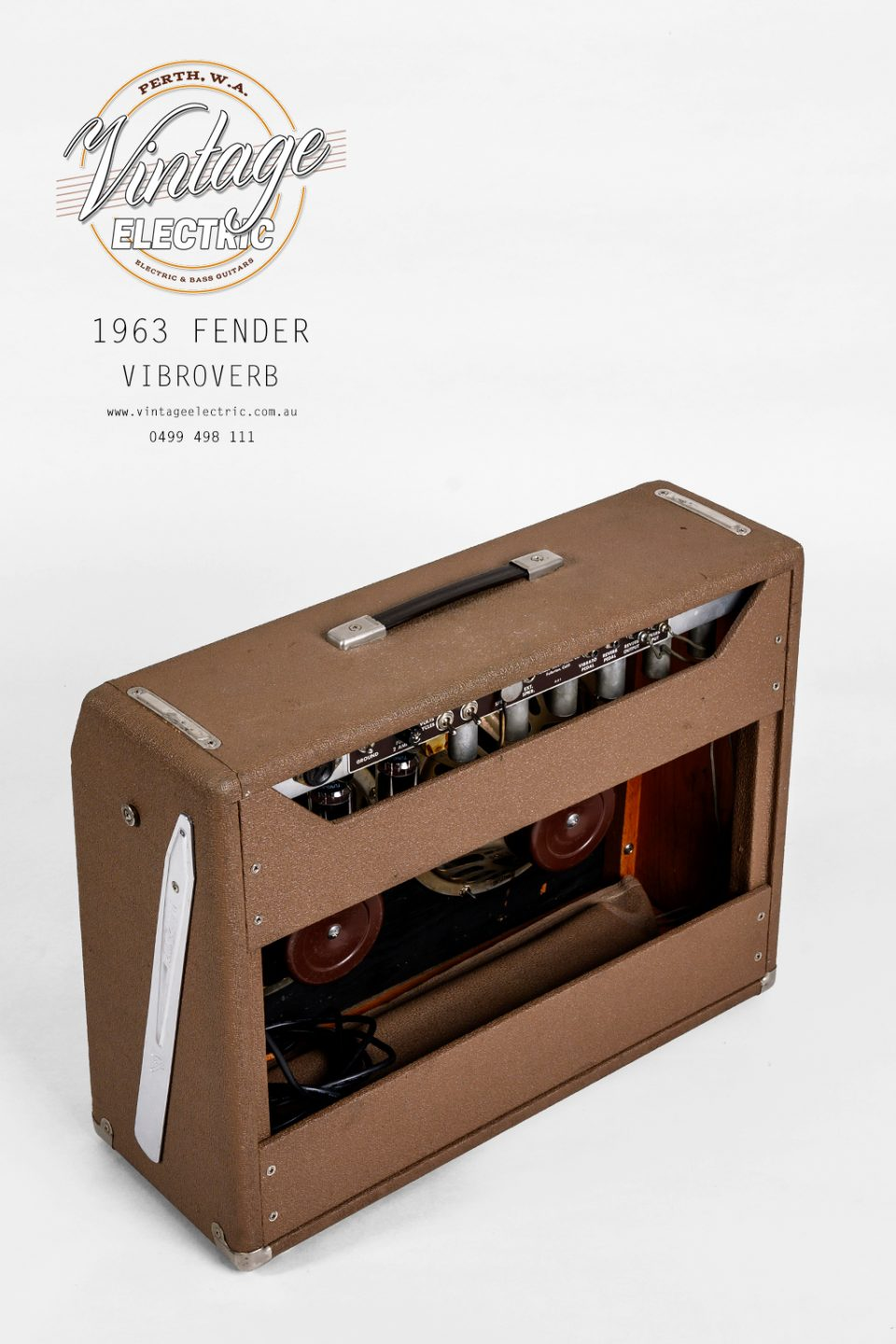 1963 Fender Vibroverb Back Top