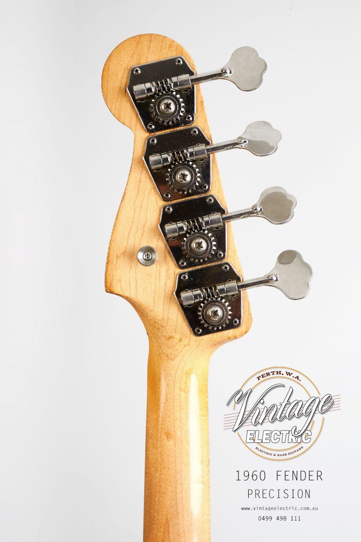 1960 Fender Precision Reverse Headstock