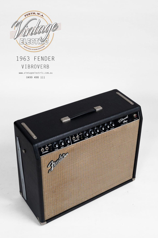 1963 Fender Vibroverb Blackface Top